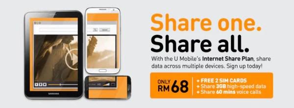 U Mobile Internet Share Plan