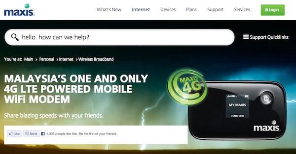 Maxis 4G LTE Wifi Modem