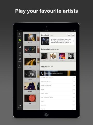 Spotify on iPad