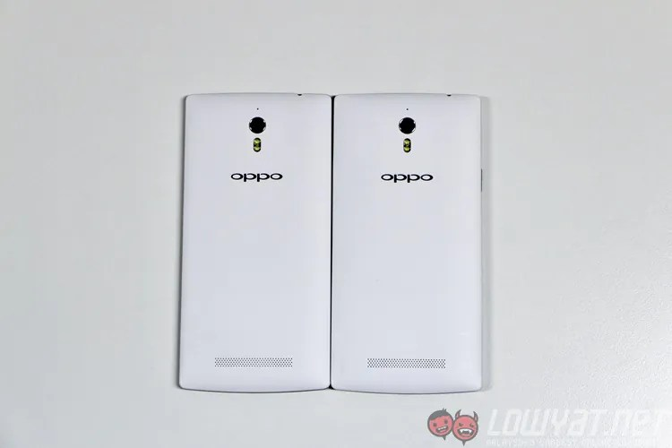 Back of Oppo Find 7 and Find 7a