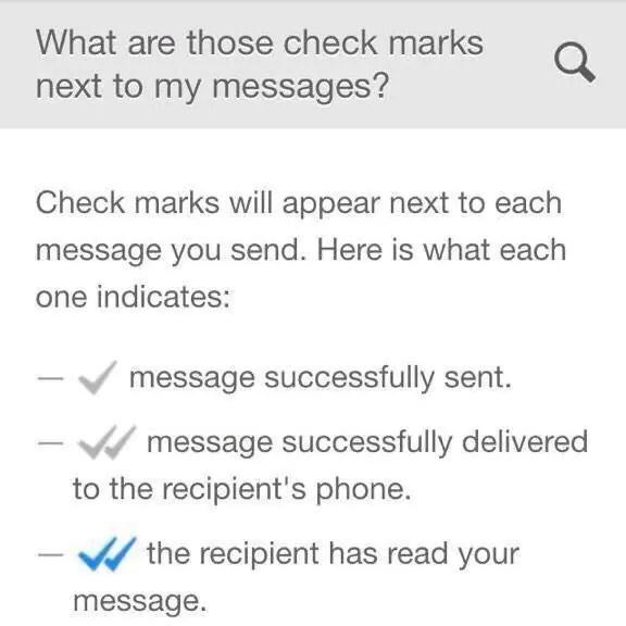 WhatsApp Checkmarks