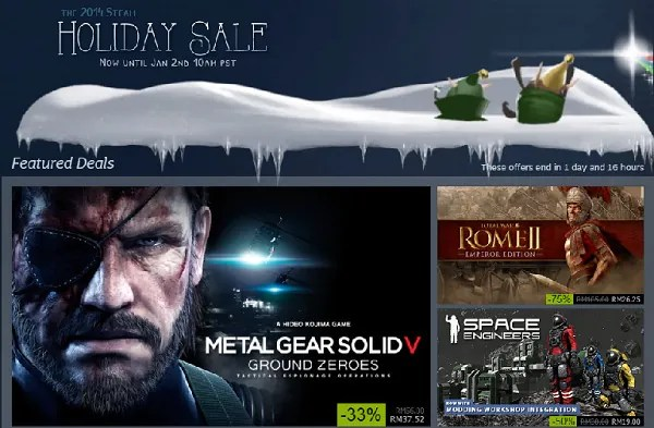 Steam Holiday 2014 Sale