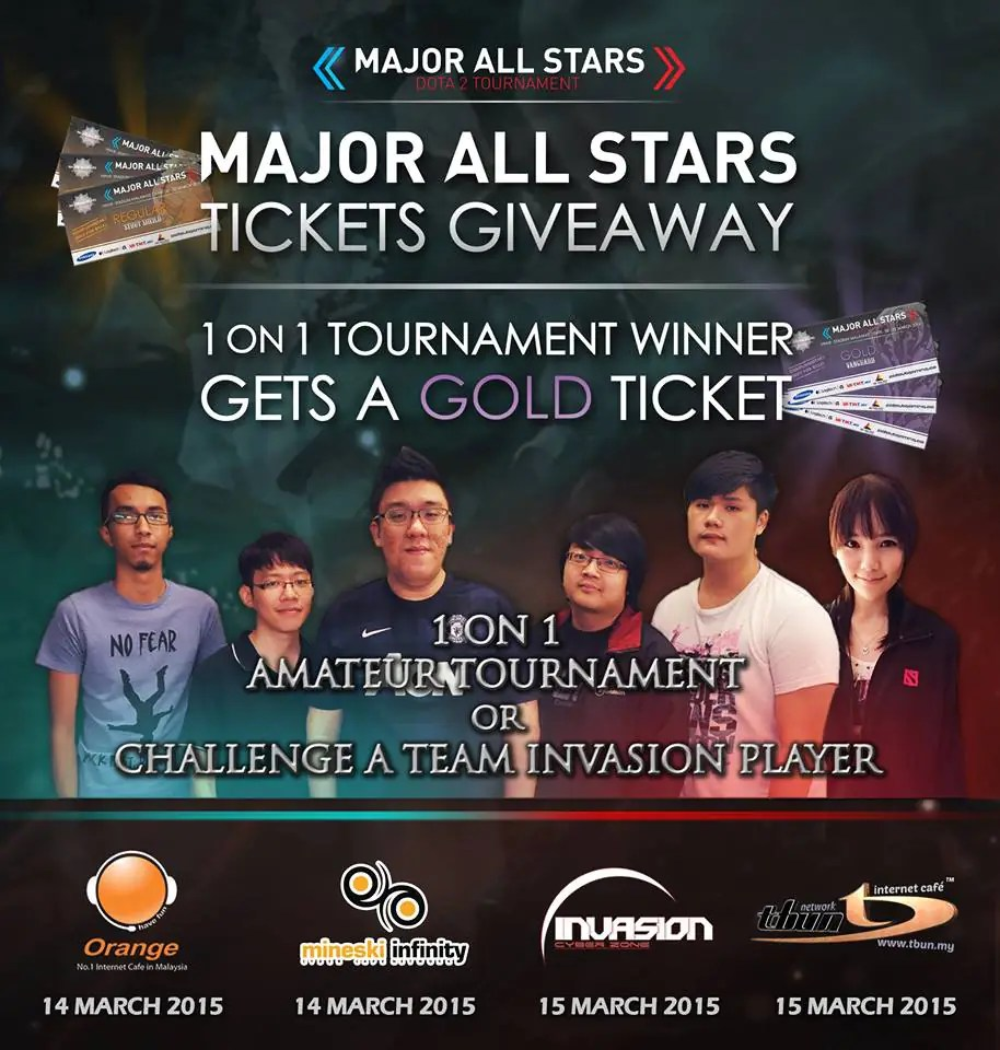 Major All Stars Ticket Giveaway 1v1 Tournament To Win