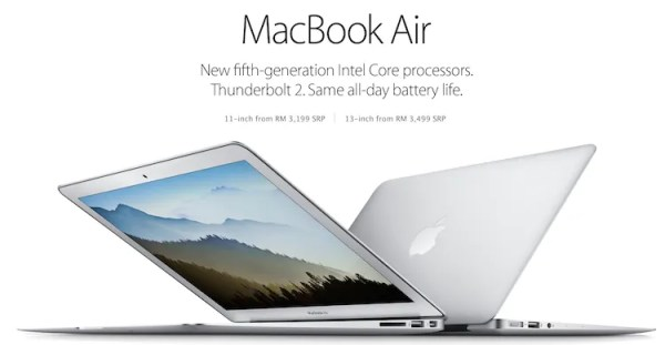 MacBook Air 2015 Malaysia from RM3199