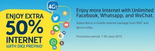 Digi Mobile Internet Package 50 Percent Extra Data