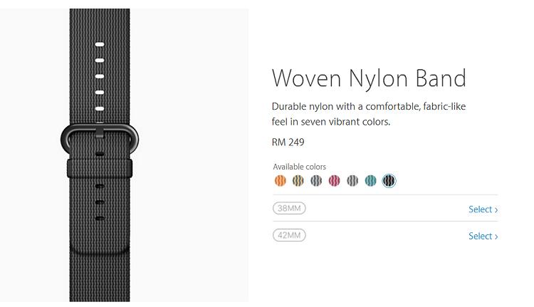 Apple Watch Nylon Band Malaysia March 2016