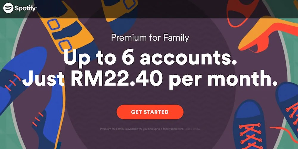 New Spotify Family Price in Malaysia 2016