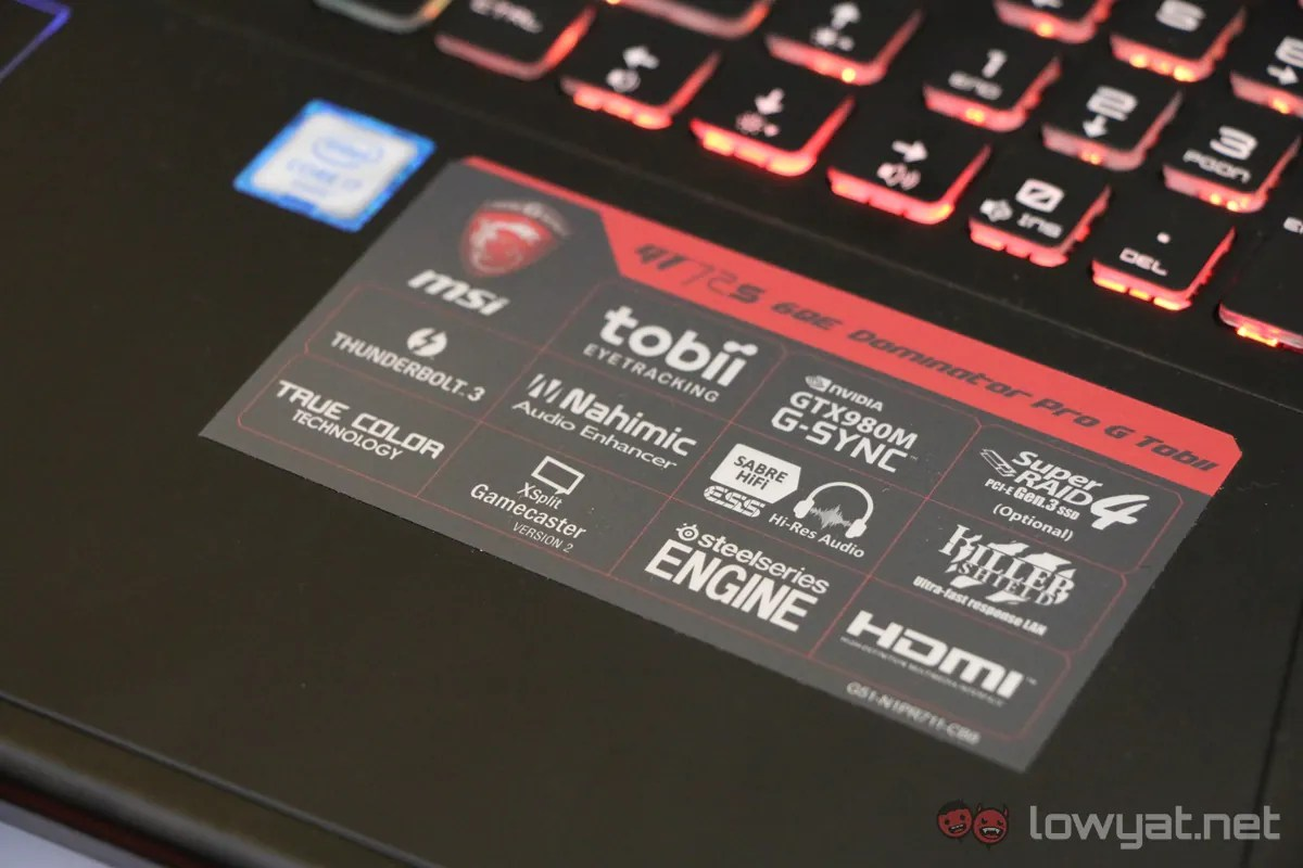MSI Officially Launches GT72S Tobii Gaming Laptop & MSI