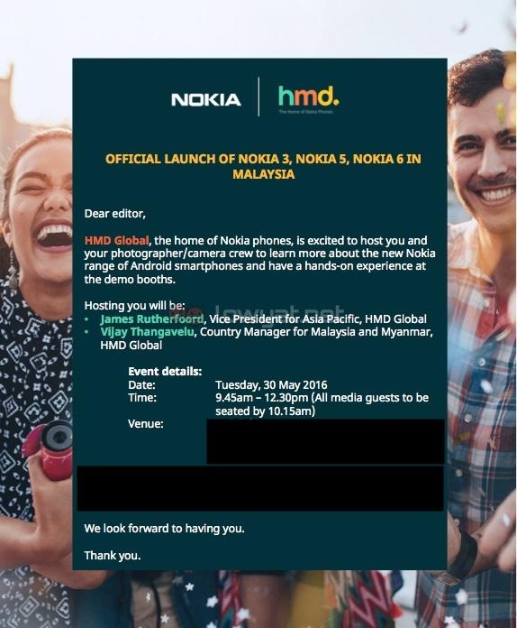 HMD Global Nokia 6, Nokia 5, Nokia 3 Malaysian Launch