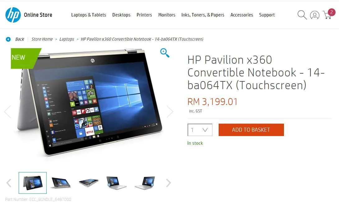 HP Pavilion x360 Now Available in Malaysia, Retail From RM2
