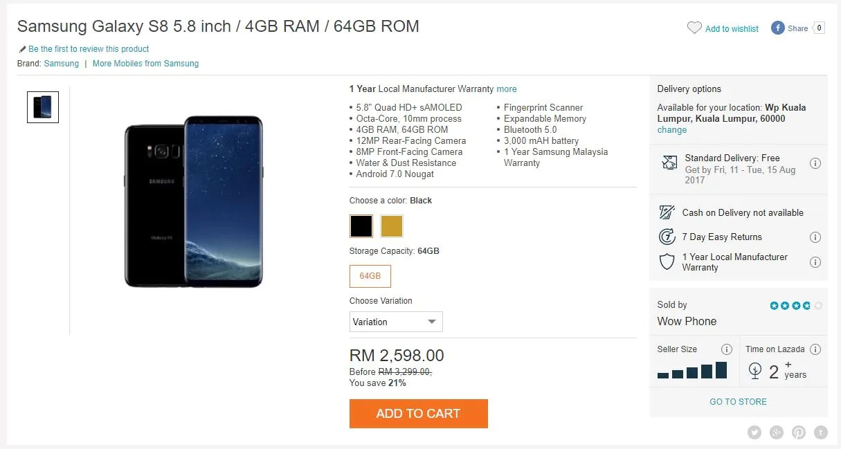Get the Samsung Galaxy S8 From Just RM2,500 Now, If You Can