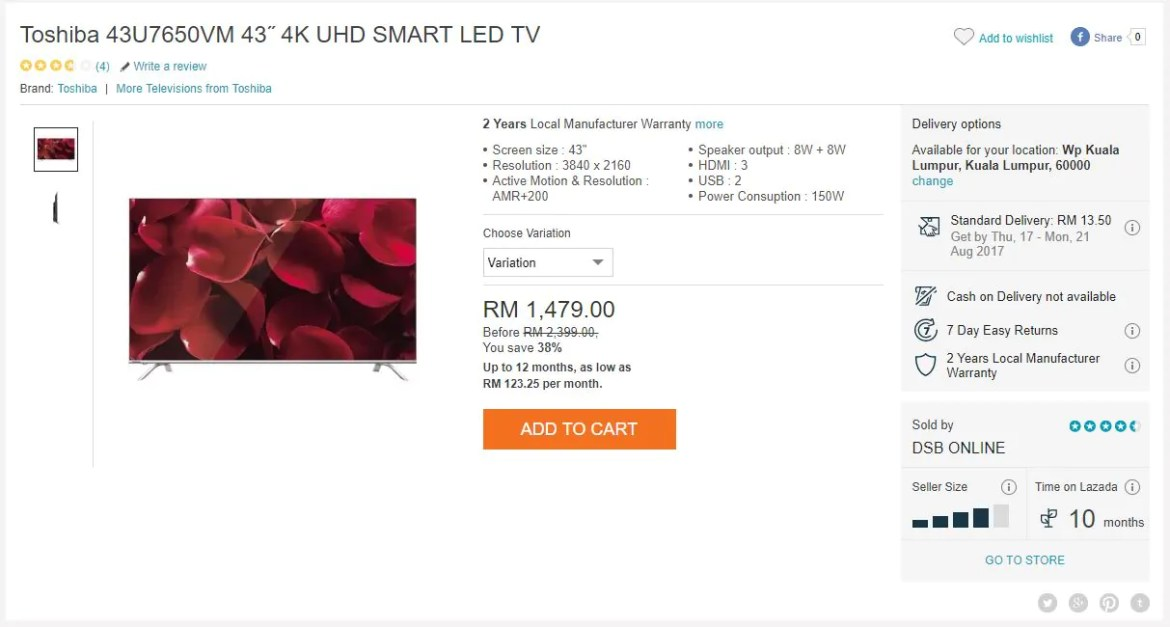 Yes, You Can Now Buy a 4K UHD TV for Less Than RM1,500