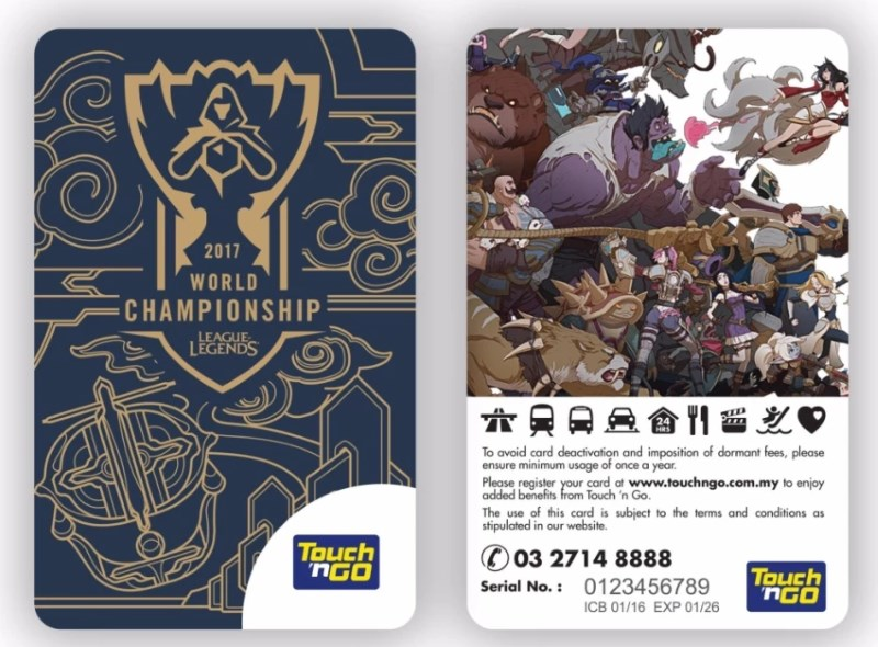 League of Legends World Championship 2017 Touch n Go Card Is