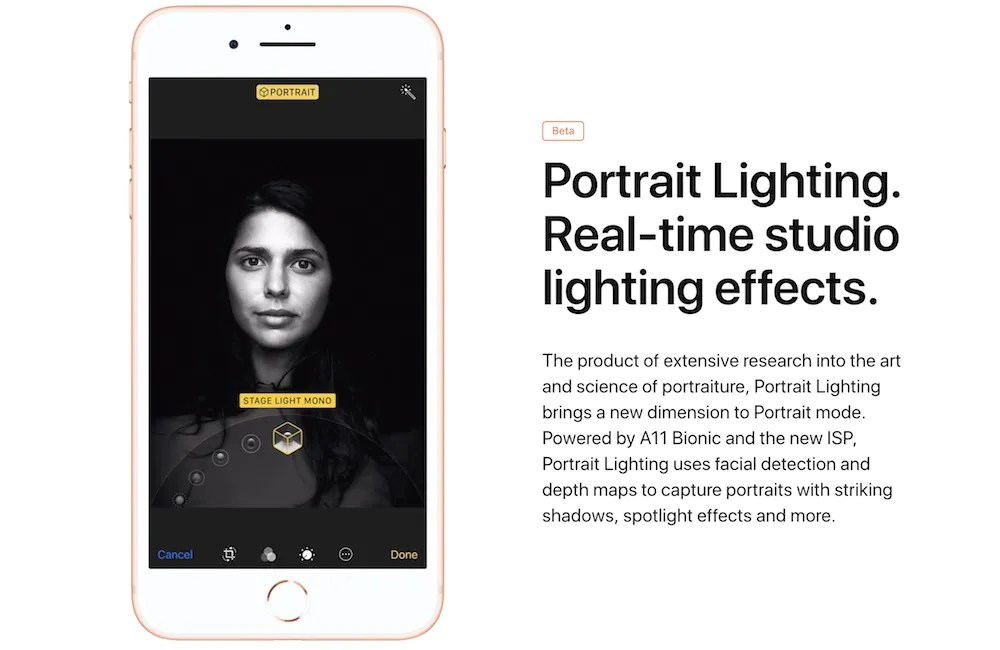 Portrait Lighting App Iphone