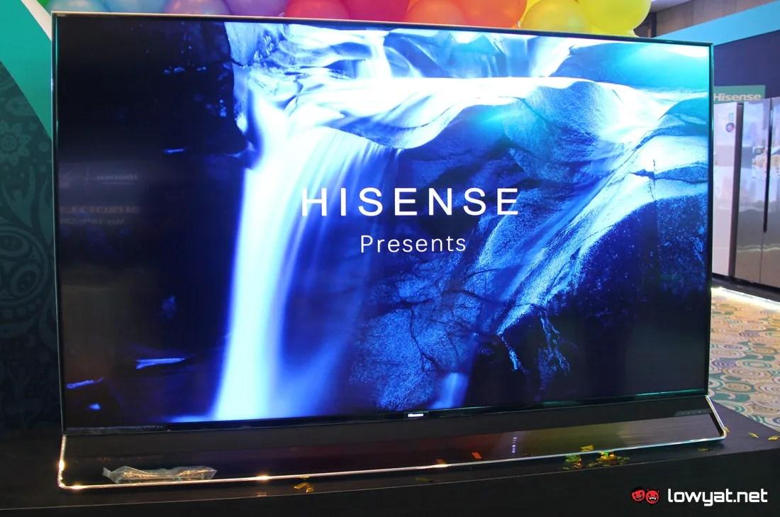 The 75-inch Hisense U9A ULED TV.