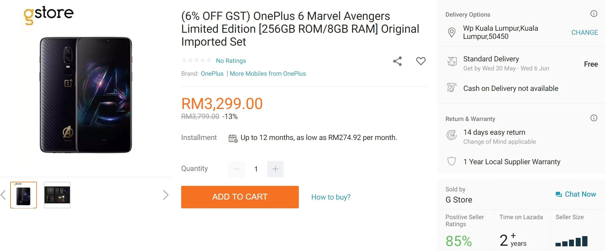 Grab the OnePlus 6 Avengers Edition for RM3,199 in Malaysia