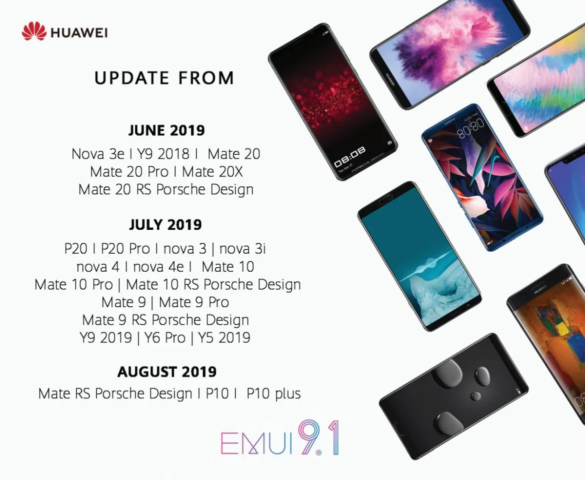 Huawei Announces Rollout Dates For EMUI 9 1
