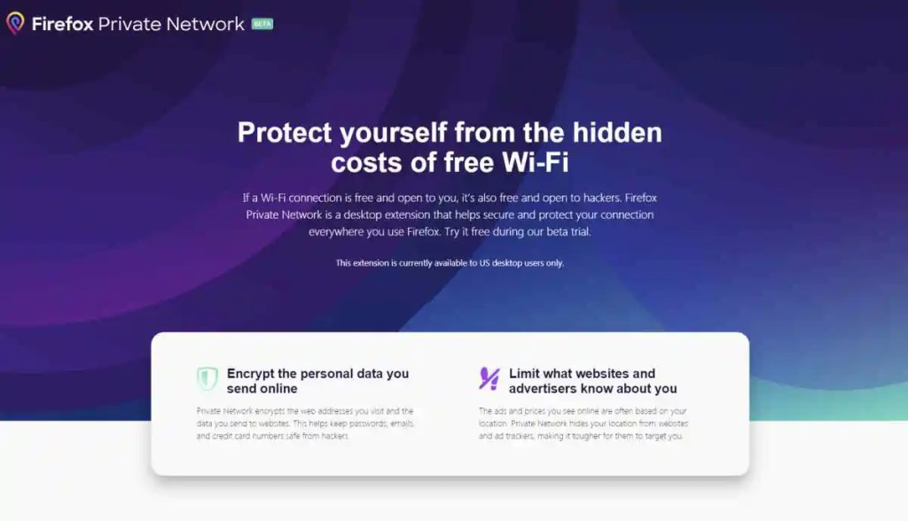 Mozilla Firefox Launches Firefox Private Network
