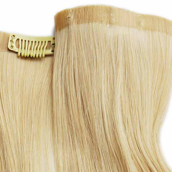 fill in finer areas of your natural hair with our two piece synthetic clip in
