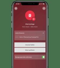 Aplikace v telefonu alarm tiché varování