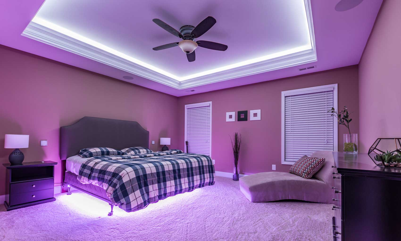 See our 20 favorite small bedrooms. Ambient Lighting: Utilize LED Lights to Set The Mood Of