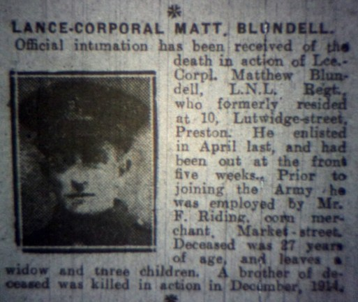 23944 Lance Corporal Matthew Blundell