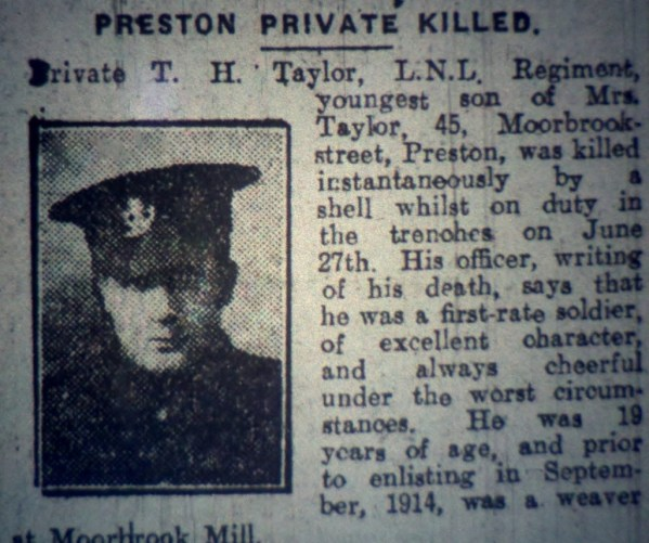13911 Private Thomas Henry Taylor