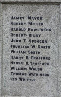 croston war memorial panel
