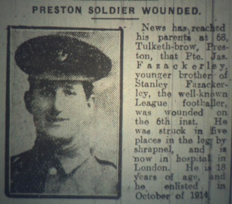 13195 Private James Fazackerley 1st5th Battalion