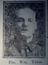 "13887 Private William Yates ""B"" Coy 7th Battalion 1"