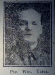 "13887 Private William Yates ""B"" Coy 7th Battalion 1"