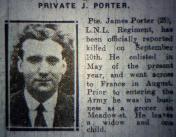 24248 Private James Porter 1st Battalion