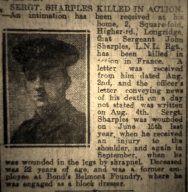 "1140 Sergeant John Sharples ""A"" Coy 1-4th Battalion"