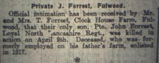 37598 Private John Forrest 1-4th Battalion 2