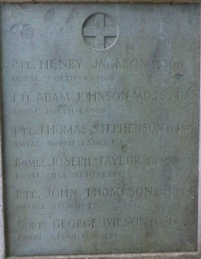 Bretherton WAR MEMORIAL PANEL