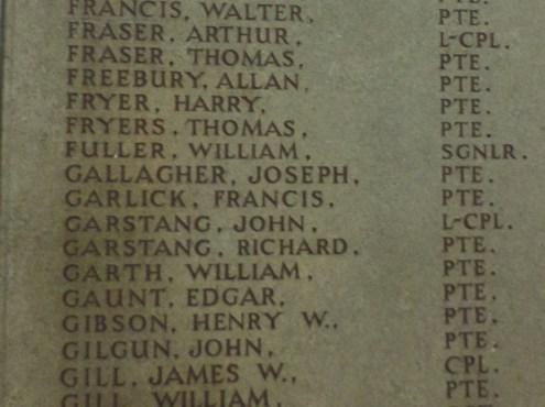 2531 Private Joseph Gallagher 1st Battalion 2