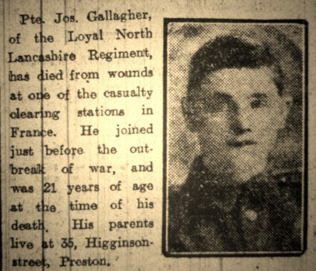 2531 Private Joseph Gallagher 1st Battalion