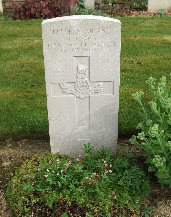 12774 Sergeant Thomas Cross cwgc