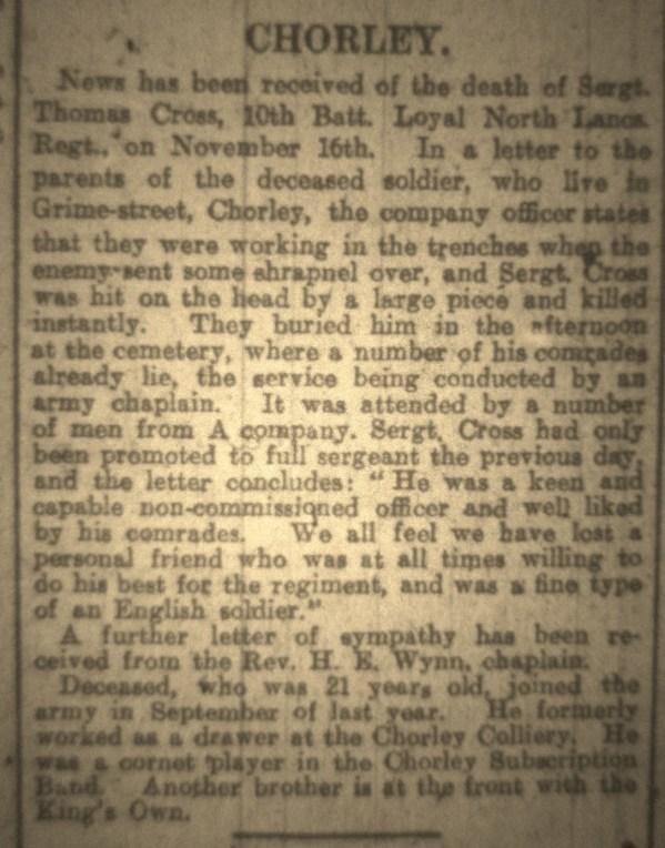 12774 Sergeant Thomas Cross