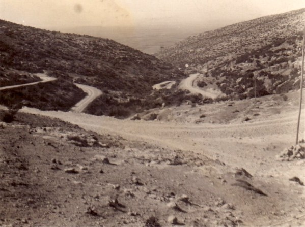 """The reverse of this photograph says """"Table Mountain. Lovely spot but very dangerous after dark (mountain bandits)"""". Probably Mesopotamia, 1916."""