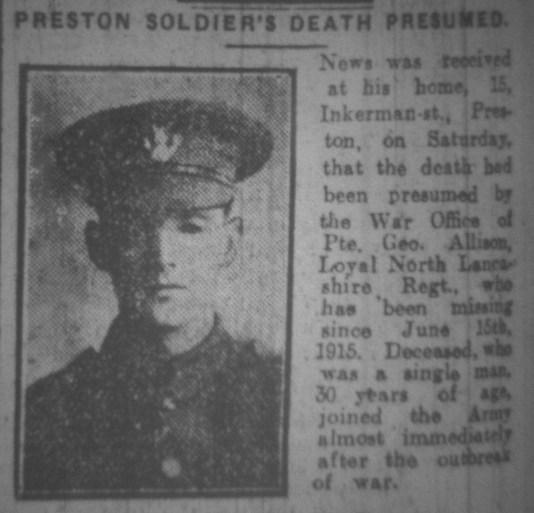 2819 Private George Allison