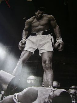 Photo taken by Alice Chong of a Muhammad Ali poster