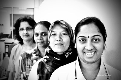 From Left: Usha, Devi, Zarina and Jayanthi.
