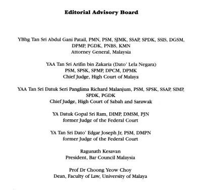 Editorial Advisory Board