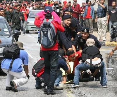 Protest Polis FRU protest