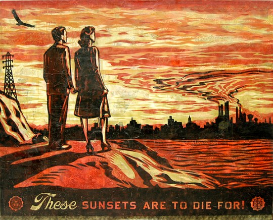 These Sunsets Are to Die For | Credit: Shepard Fairey