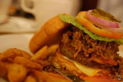 The legendary P7 pork burger. | Credit: King Chai