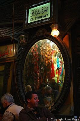 Famous tea house in the popular Khan El Khalili bazaar