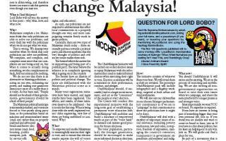 Change Your Life, Change Malaysia!