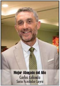 Carlos Lalanda, galardonado por la Revista Azar como mejor abogado del año,fotografía de Carlos Lalanda